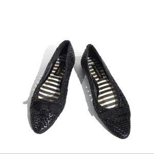 Liz Claiborne Skip Woven Leather Ballet Flats